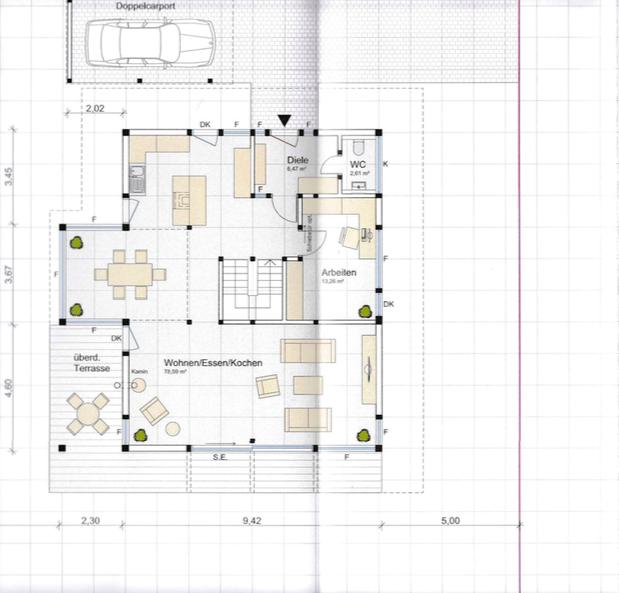 Detmolder Fachwerkhaus - Grundriss Erdgeschoss