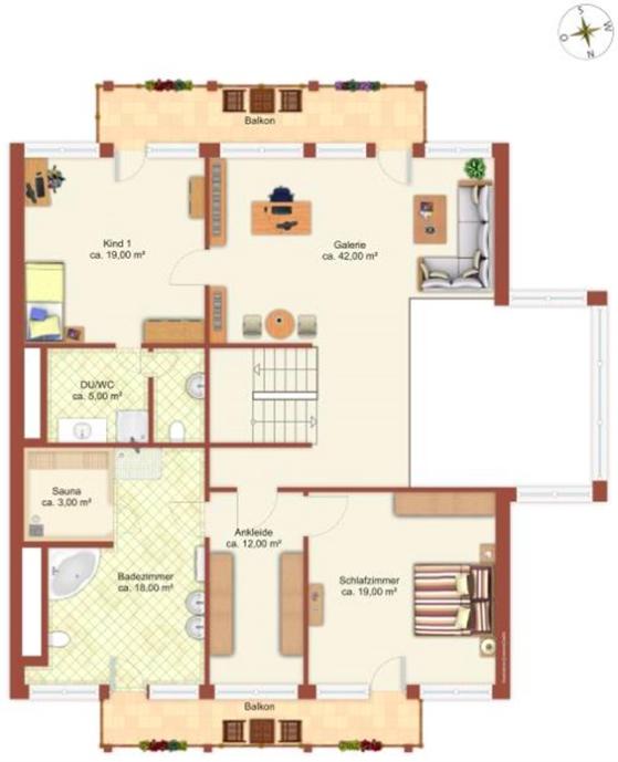 Huf Haus Art5 weiß Grundriss